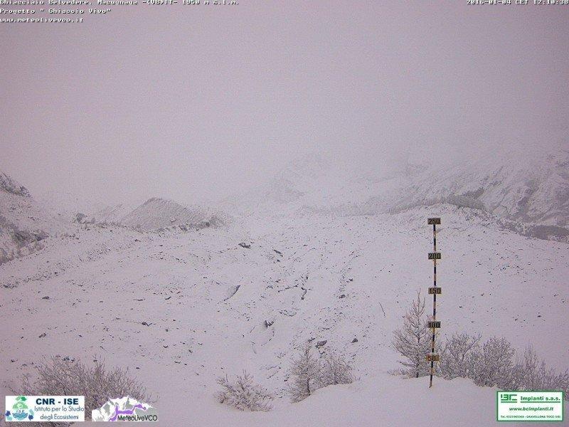 Stagione nevosa 2015-2016 al ghiacciaio Belvedere.