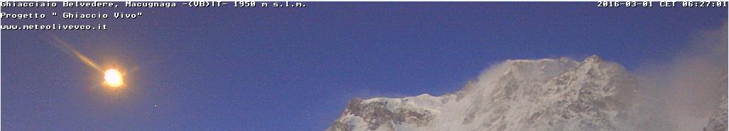 Oggetto misterioso sul Monte Rosa?