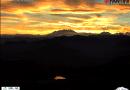 Spettacolare tramonto dalla webcam Mottarone.