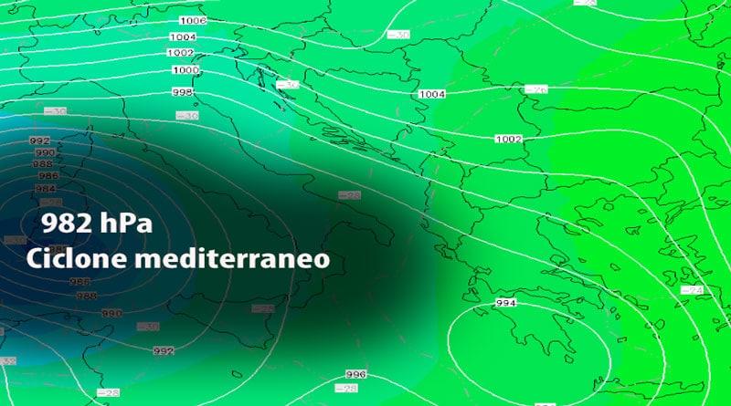 METEO, ciclone mediterraneo VCO ai margini, neve solo sulle Alpi e nella bassa.
