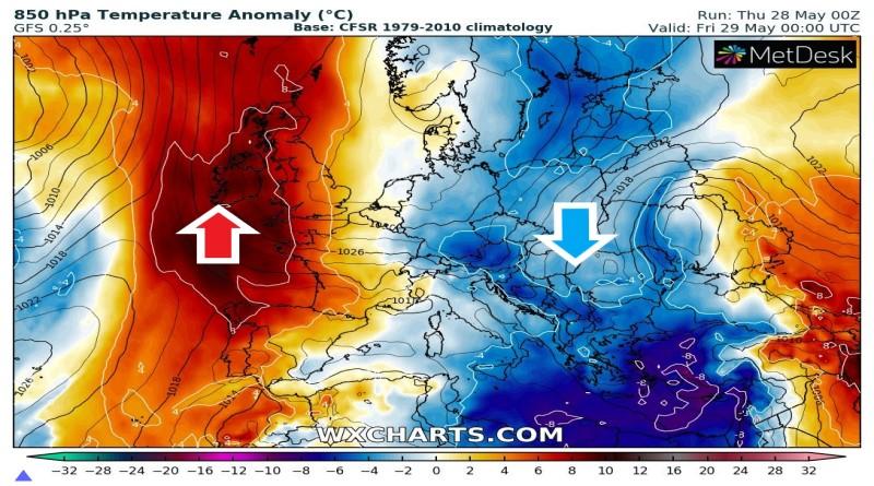 METEO, aria fresca da est qualche temporale da nord verso sud. Più rari sulle Alpi.