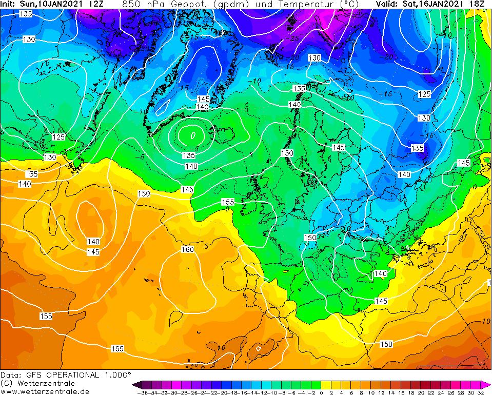 16 gennaio. L'aria fredda artica si riprende l'Italia.